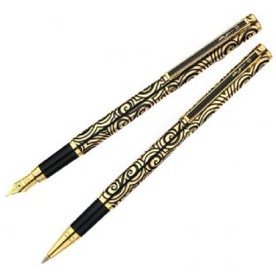 Gold Celtic Triskele Pen Set